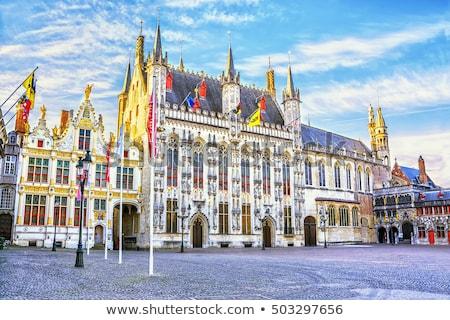 Praça Bélgica prefeitura histórico centro cidade Foto stock © borisb17