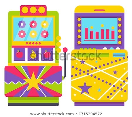 レトロな マシン ジョイスティック カラフル 花 ストックフォト © robuart