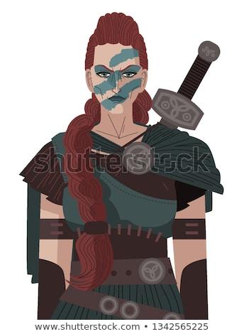 Desenho animado ilustração rainha escócia Turquia água Foto stock © robStock