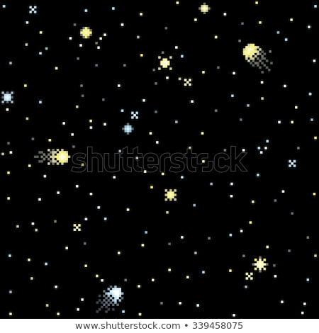 Stars and Abstract Shapes of Galaxy Pixel Game Stock photo © robuart
