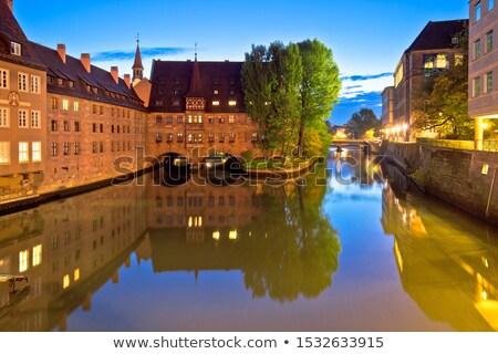 Heilige geest ziekenhuis avond rivier regio Stockfoto © xbrchx