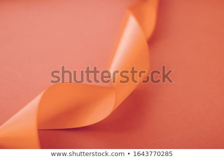Abstract mătase panglică portocaliu exclusiv Imagine de stoc © Anneleven