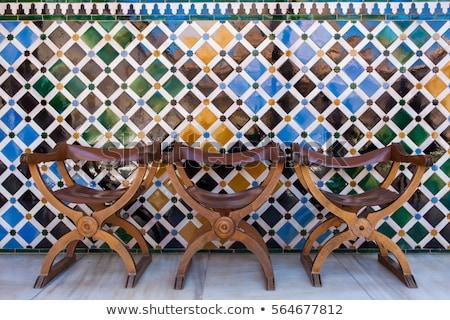 alhambra · Espanha · mundo · jardim · azul · castelo - foto stock © borisb17