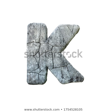 Concrete fracture font Letter K 3D Stock photo © djmilic