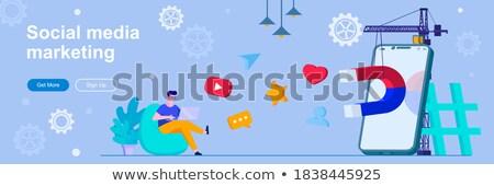 Attracting followers concept banner header. Stock photo © RAStudio