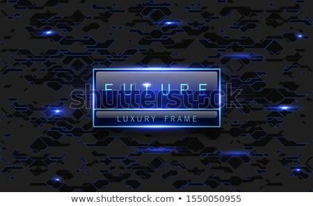 Vector Blauw futuristische licht frame communie Stockfoto © Iaroslava