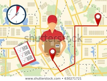 Servicio rápido entrega entrega urgente mensajero hombre Foto stock © benzoix