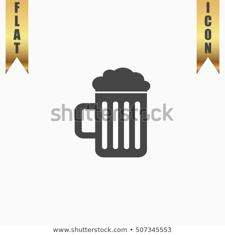 Oktoberfest simple ribbon with beer mug Stock photo © barsrsind