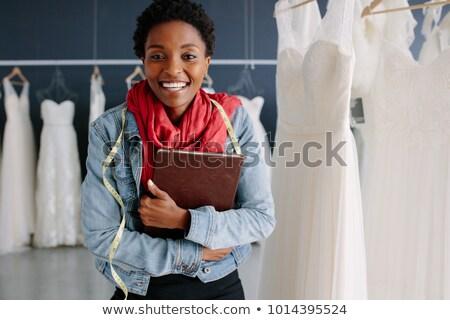 Portret vrouwelijke store eigenaar bruiloft Stockfoto © HighwayStarz