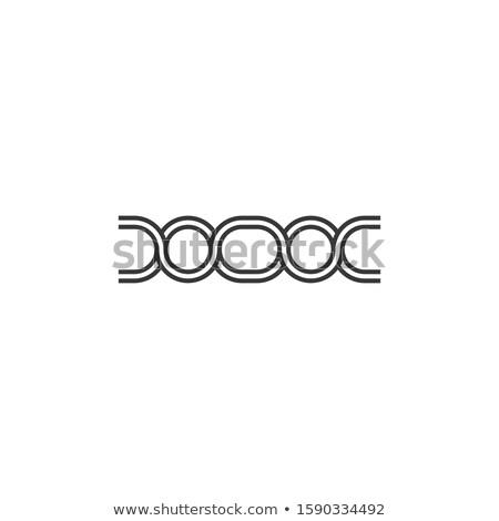 Link streszczenie projektowanie logo czas odizolowany biały Zdjęcia stock © kyryloff