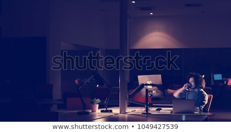 Programmer Working Late At Night Stock photo © AndreyPopov