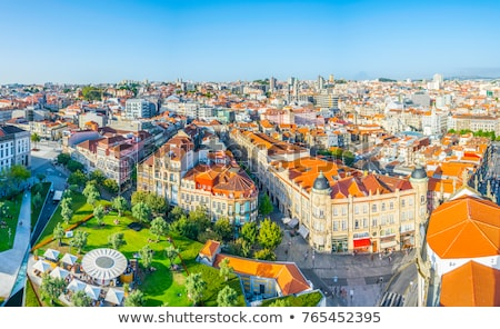 View Of Clerigos Tower And Roofs In Porto Portugal Stock photo © diego_cervo