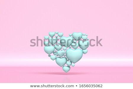緑 心臓の形態 小 心 3D レンダリング ストックフォト © djmilic