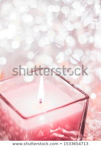 Stieg aromatischen Kerze Weihnachten neue Jahre Stock foto © Anneleven