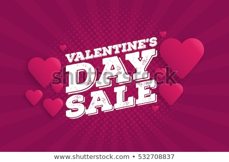 Mejor ofrecer San Valentín día promoción vector Foto stock © robuart