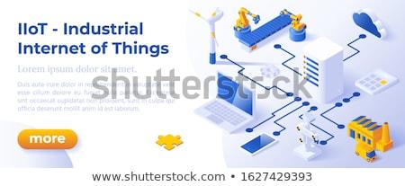 Ipari internet dolgok szalag elrendezés sablon Stock fotó © tashatuvango