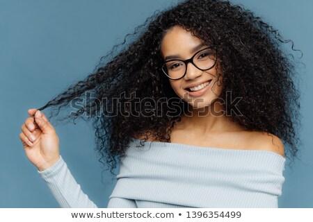 Horizontal tiro sonriendo afro americano mujer Foto stock © vkstudio