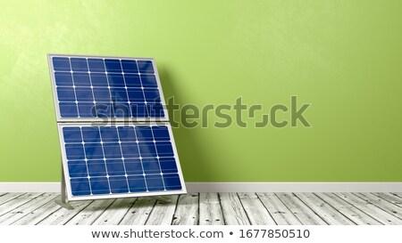 Pared verde espacio de la copia 3d Foto stock © make