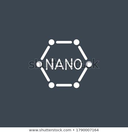 Nanotechnologie vector icon geïsoleerd witte ontwerp Stockfoto © smoki