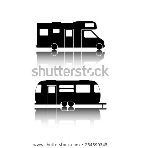 Recreational vehicle black icons vector illustration Stock photo © YuriSchmidt