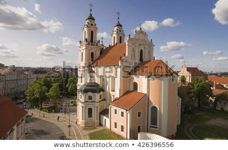 Igreja Vilnius Lituânia estilo tarde Foto stock © borisb17