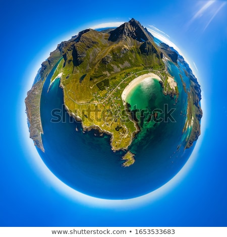 Mini planet Lofoten is an archipelago in the county of Nordland, Stock photo © cookelma