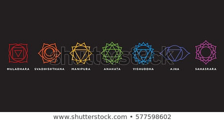 set of icons with chakras  vector Stock photo © Olena