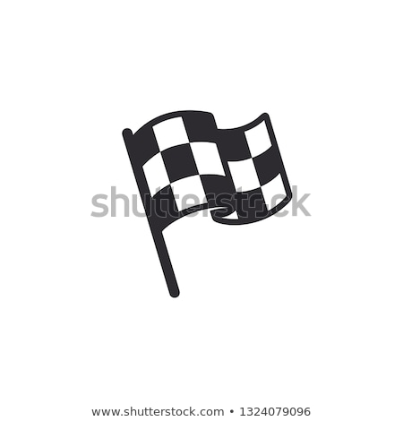 destination flag icon vector outline illustration Stock photo © pikepicture