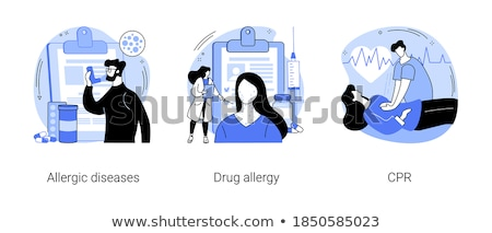 Allergic reactions first aid abstract concept vector illustratio Stock photo © RAStudio