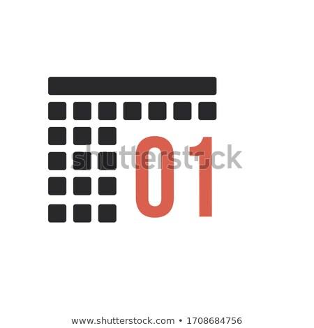 Mês calendário organizador ícone estoque isolado Foto stock © kyryloff