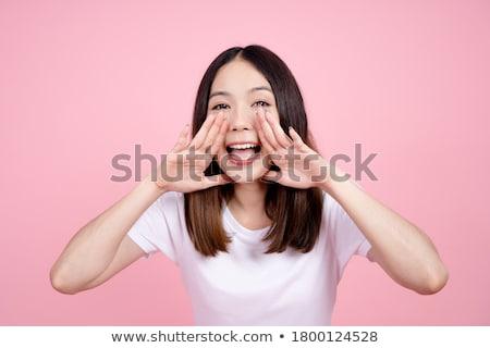 Imagem jovem provérbio chamada alguém mão Foto stock © deandrobot