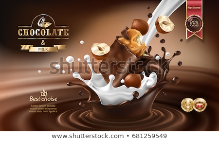 Milk and hazelnut chocolate pieces  Stock photo © grafvision