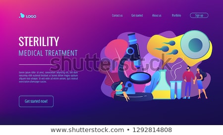 Infertility concept landing page. Stock photo © RAStudio