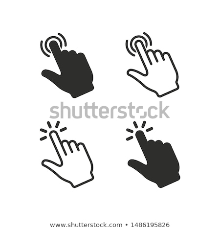 Set of computer mouse icons with move signs isolated on white Stock photo © evgeny89