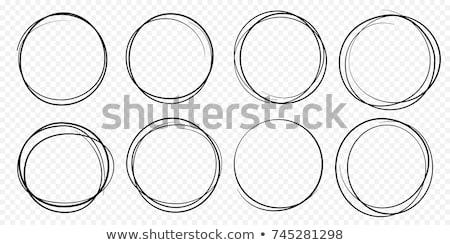 Hand drawn black scribble circles on white Stock photo © evgeny89