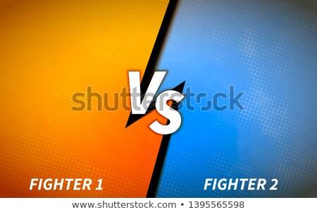 Képernyő sablon csata főcím narancs kék Stock fotó © evgeny89
