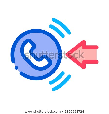help desk incoming call icon vector outline illustration Stock photo © pikepicture