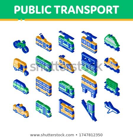 公共交通機関 ケーブル フェリー アイソメトリック アイコン ベクトル ストックフォト © pikepicture
