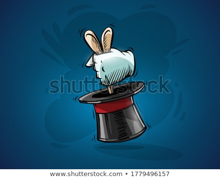 Magical focus trick hand of magician gets hare rabbit from hat Stock photo © LoopAll