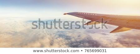 aterrissagem · panorâmico · azul · avião · executivo - foto stock © moses