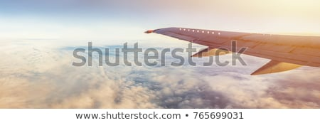 Foto stock: Jet Aircraft In Flight Panorama