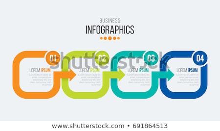 Wektora postęp cztery kroki szablon jeden Zdjęcia stock © orson