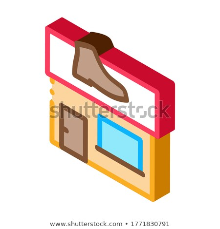 Sapato reparar construir isométrica ícone vetor Foto stock © pikepicture