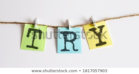 Blog, Colorful words hang on rope stock photo © Ansonstock