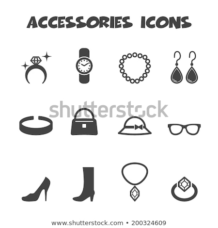Foto stock: Mulher · feminino · ícones · telefone · moda