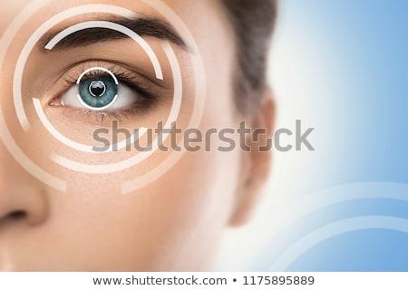 Szem szemüveg optometrikus diagram terv egészség Stock fotó © ajn
