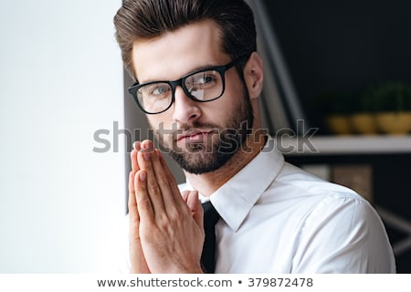 head of pensive man in glasses Stock photo © Paha_L