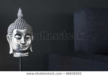contemporary interior design detail with buddha image and sofa Stock photo © travelphotography