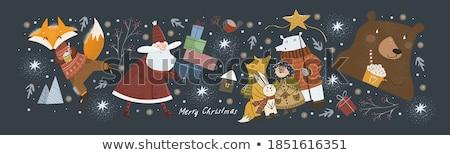 új · év · nyúl · képeslap · ajándék · karácsony - stock fotó © Lynx_aqua