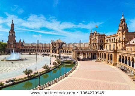 Palacio Espanol, Plaza de Espana in Seville Stock photo © aladin66